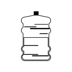 water bottle big plastic dispenser outline vector illustration