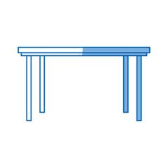 table furniture wooden modern style design vector illustration