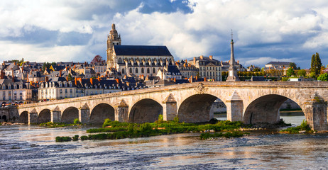 Landmarks of France - Historical Blois town, famous Loire valley