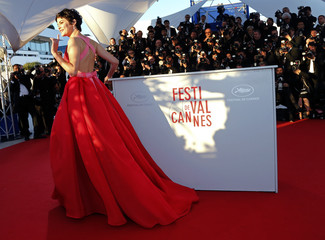 Mistress of Ceremony actress Audrey Tautou poses during a photocall after the closing ceremony of the 66th Cannes Film Festival