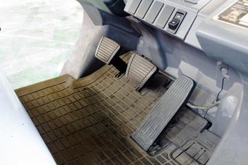 pedal clutch, brake and accelerator.