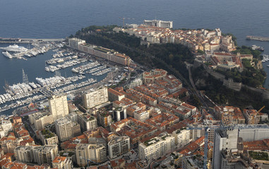 A general view shows Monaco principality