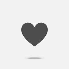 Heart flat design icon vector