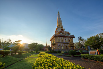 The most important of buddhist temples of Phuket is Wat Chalong or formally Wat Chaiyathararam in Phuket, Thailand.