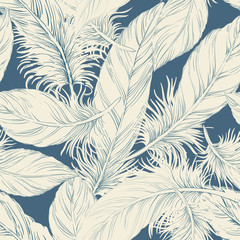 Seamless feather background pattern