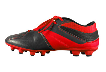 Football boots isolated - red