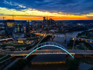 Fototapete - drone shot over Nashville