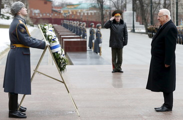 Israel's President Rivlin attends wreath-laying ceremony in Moscow