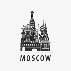 Cathedral Moscow Vector Symbol