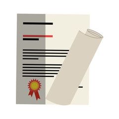 graduation certificated isolated icon vector illustration design