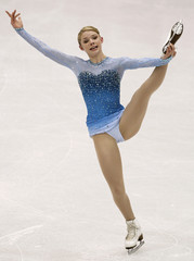 Dobbs of the U.S. performs during the Ladies Short Program competition at the ISU Four Continents Figure Skating Championships in Jeonju