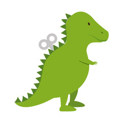 dinosaur rex toy icon vector illustration design