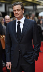 Colin Firth poses for photos at the UK premiere of Eye in the Sky, at a cinema in central London, Britain