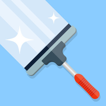 Cleaning Brush Glass Window Wiper Scraping Tool Vector