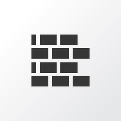 Brickwork Icon Symbol. Premium Quality Isolated Wall Element In Trendy Style.