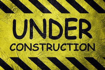 Under Construction Industrial Sign. Retro style.