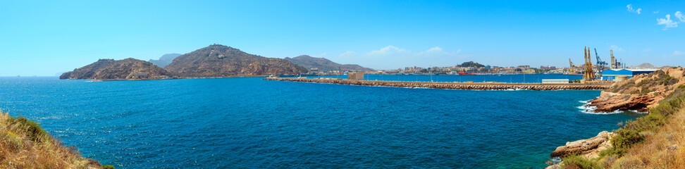Summer Cartagena port (Spain).
