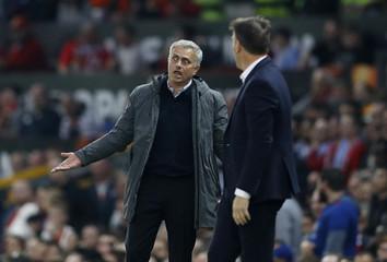 Manchester United manager Jose Mourinho and Celta Vigo coach Eduardo Berizzo