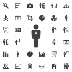 vector icon of businessman or manager.