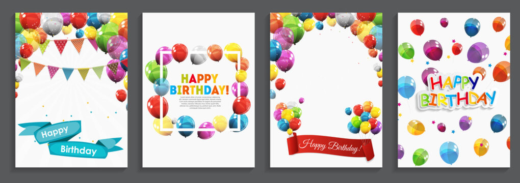 Happy Birthday, Holiday  Greeting and Invitation Card Template S
