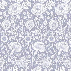 Floral seamless pattern. Modern seamless pattern for interior decoration, wrapping paper, graphic design and textile. Vector illustration. Backgrounds.