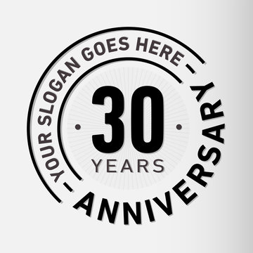30 years anniversary logo template. Vector and illustration.