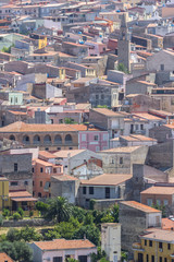 View to the Sennori town, Sardinia, Italy