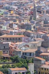 View to the Sennori town, Sardinia, Italy