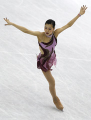 Murakami of Japan performs during the women's short program at the ISU World Figure Skating Championships in Nice