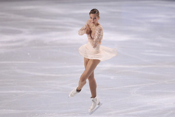 Korobeynikova of Russia performs her ladies short program at the Bompard Trophy ISU Grand Prix of figure skating competition in Paris