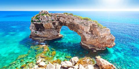 Es Pontas Felsen Santanyi Mallorca Spanien