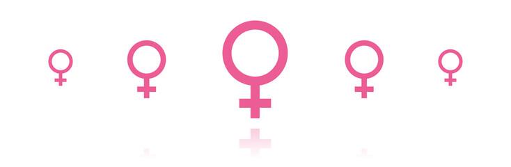 Banner - Weiblich Frau
