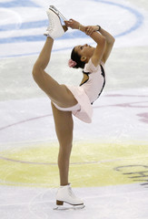 Mariuta of Romania performs during the women's free skating preliminary round at the ISU World Figure Skating Championships in Nice