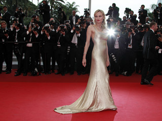 "Actress Kruger arrives on the red carpet for the screening of the film ""Sleeping Beauty"" at the 64th Cannes Film Festival"
