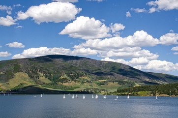 Sailboat Regatta on Lake Dillon