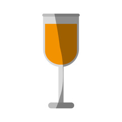 cocktail in garnished glass icon image vector illustration design