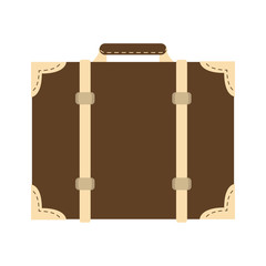 vintage travel suitcase icon image vector illustration design