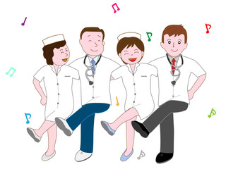 医者と看護師のエクササイズ