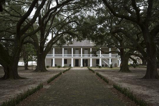 The main house at the Whitney Plantation in Wallace Louisiana