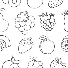 Collection stock fruit pattern style