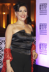 Lebanese actress Julia Kassar arrives at the premiere of 'Here comes the rain' during the 2010 Doha Tribeca Film Festival in Doha