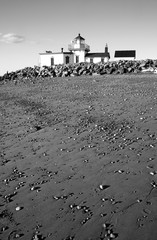 West Point Lighthouse Discovery Park Beach Puget Sound Seattle Washington