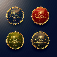 limited edition labels set vector design