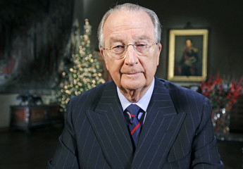 Belgium's King Albert II delivers his traditional Christmas speech at the Royal Palace in Brussels
