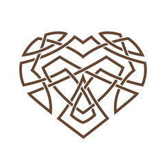 Simple Celtic pattern in the form of a heart