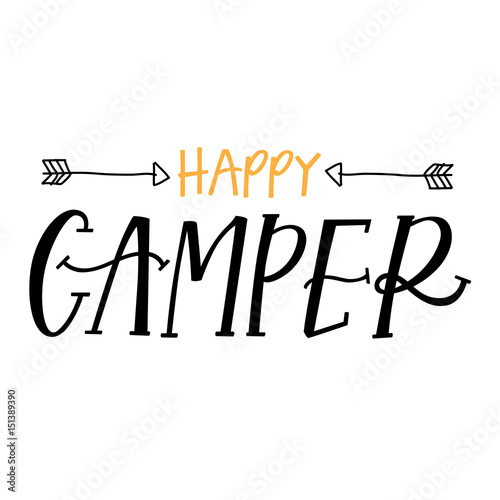 Happy Camper Stock Image And Royalty Free Vector Files On Fotolia