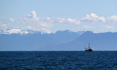 A sister ship of the Ocean Sunset is pictured fishing off of Ucluelet, British Columbia