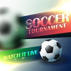 soccer tournament flyer poster design template