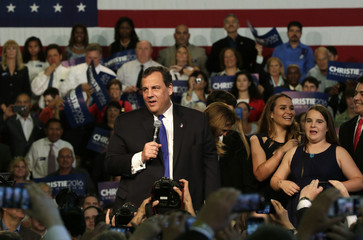 Republican U.S. presidential candidate Christie formally announces his campaign for the 2016 Republican presidential nomination during a kickoff rally in Livingston, New Jersey