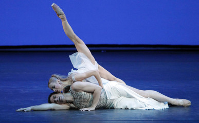 Dancers perform during the 19th Benois de la Danse award ceremony at the Bolshoi Theatre in Moscow